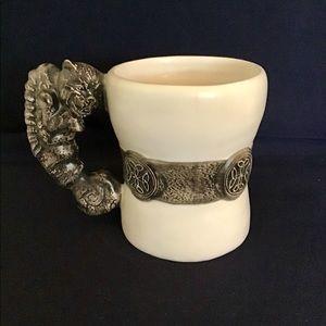 '97 Celtic Gothic Medieval Dragon Gargoyle Mug Cup